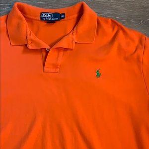 Ralph Lauren orange Polo shirt!  Size XXL